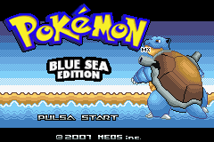 Portada de Pokémon Blue Sea