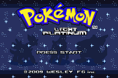 Portada de Pokémon Light Platinum